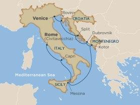 rome venice map